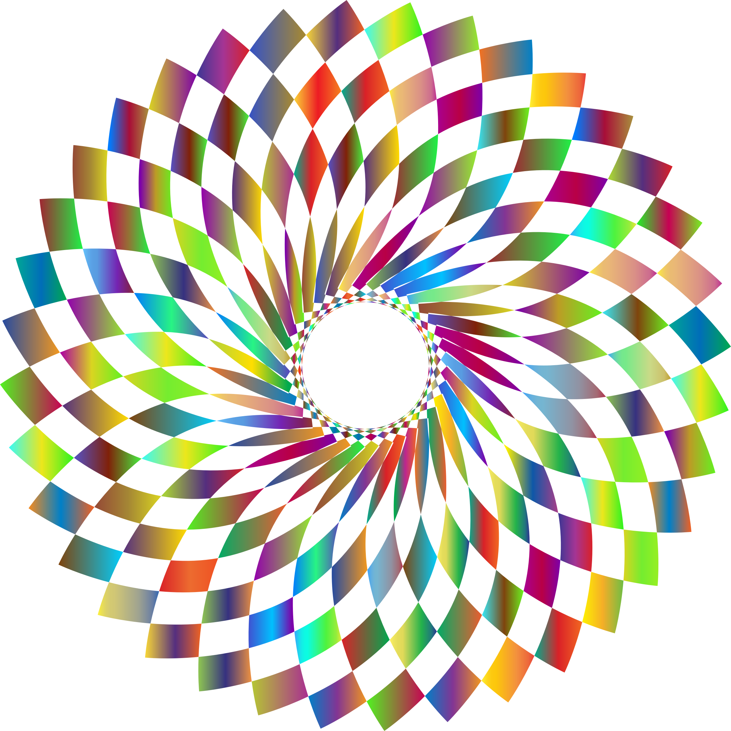 Checkered drawing vortex. Prismatic no background icons