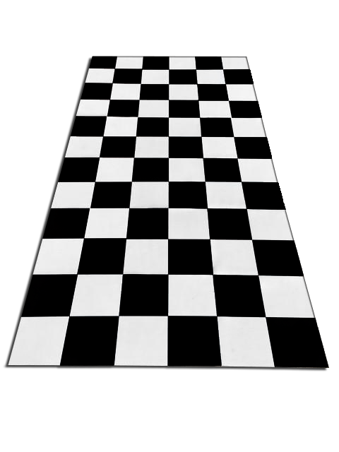 Transparent floor checkerboard. Checker board platinum prop