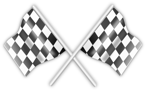 Checkered vector bendera. Racing flags clip art