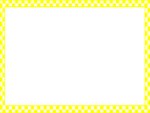 Checkered vector border. Yellow checkerboard frame clip