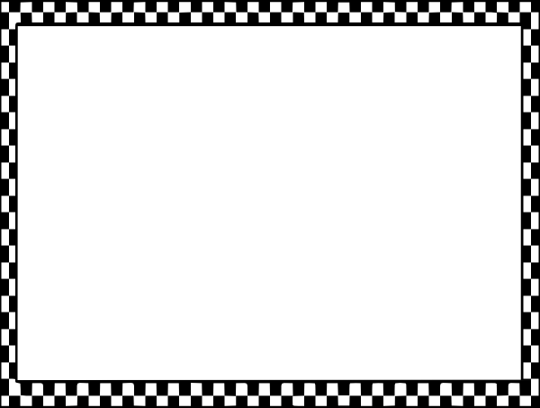 Checkered vector border. Checkerboard clip art at