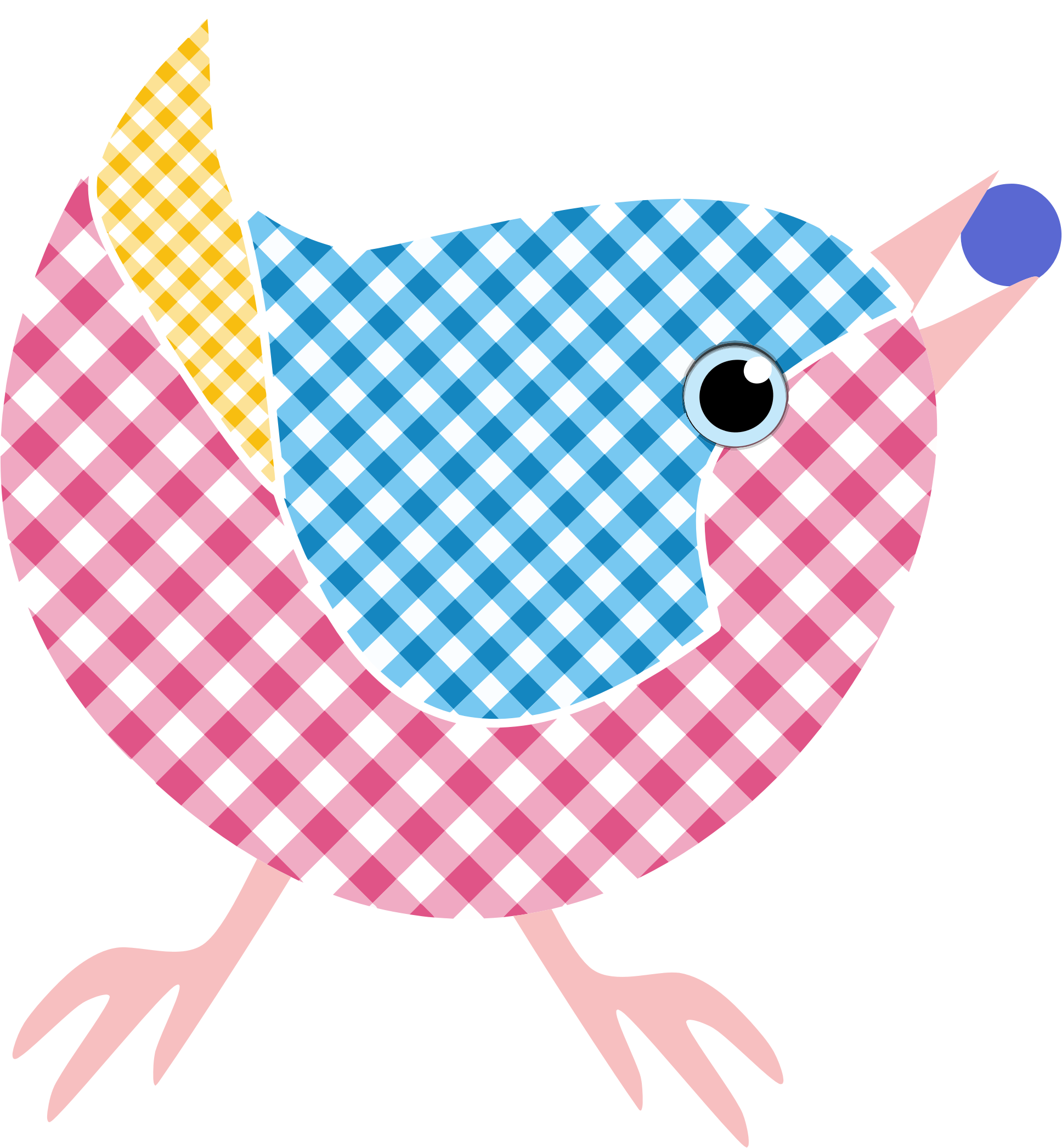 Checkered vector gingham. Bird icons png free