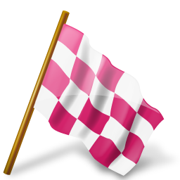 Checkered vector pink. Map markers by icons