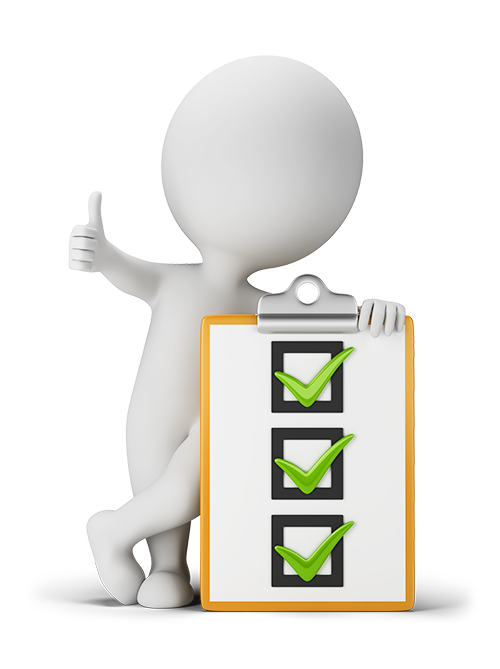 Checklist 3d png. D small people