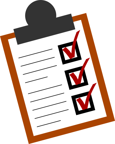 Checklist clipart png. All done clip art