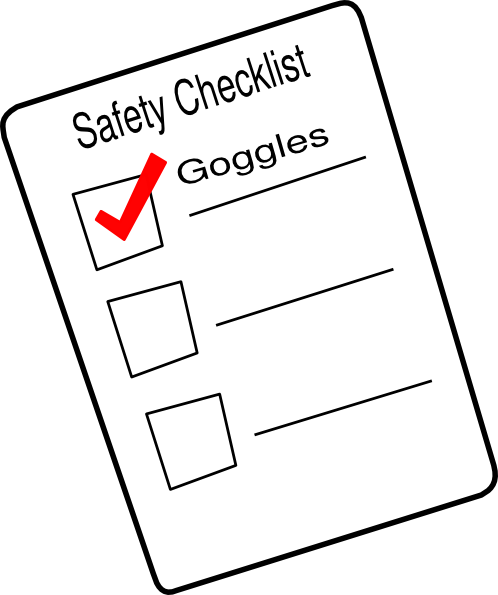 Checklist clipart thing. Safety clip art at