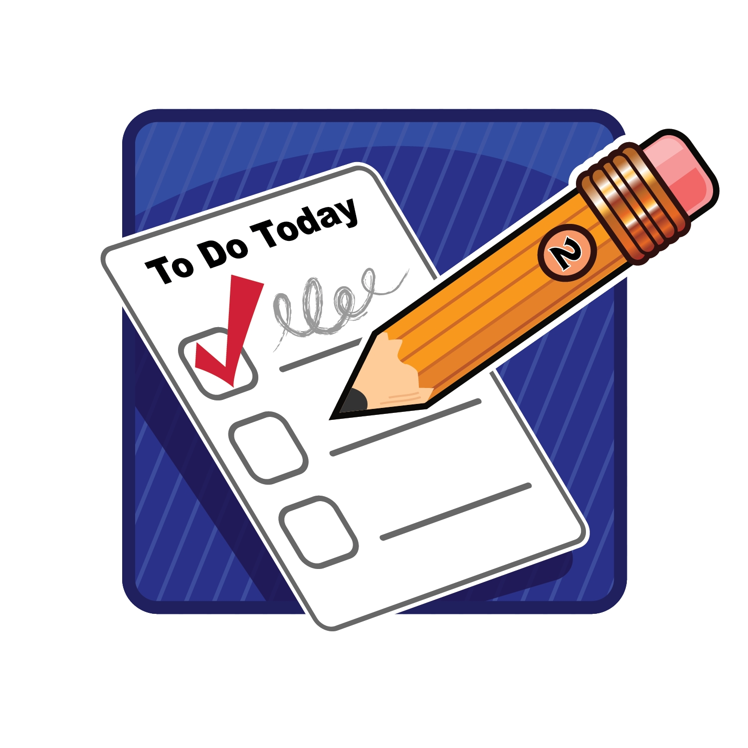 Checklist clipart thing. Things to do list