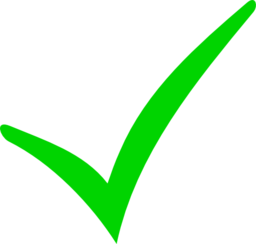Checkmark clipart green. And red minus i