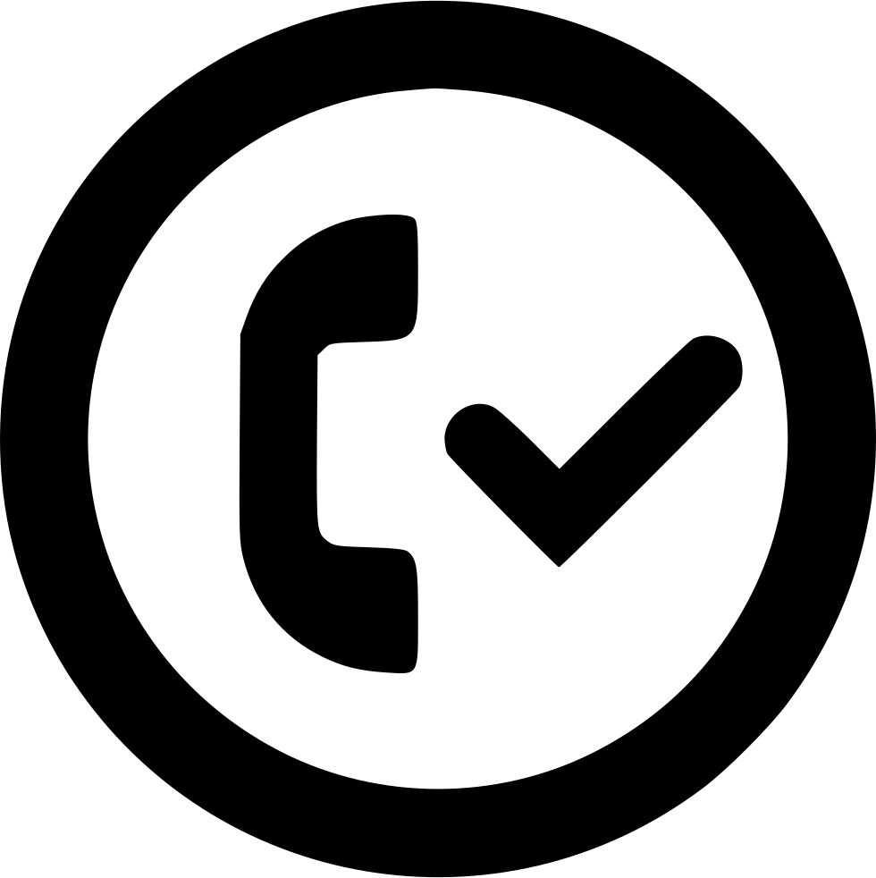 Checkmark svg circle. Accepted call outline png