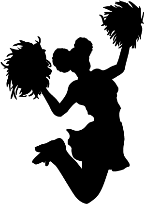 cheerleader clipart female cheerleader