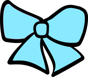 Cheer drawing bow. Blue clipart