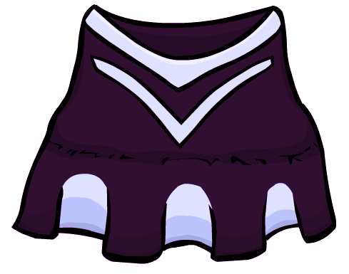 Cheer drawing cheerleader outfit. The purple club penguin