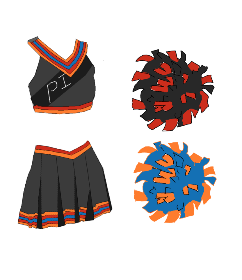 Cheer drawing cheerleader outfit. Discount cheerleading uniforms sport