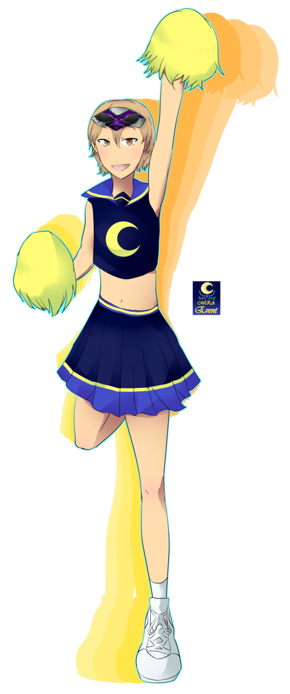 Cheer drawing cheerleader outfit. Mra event need one