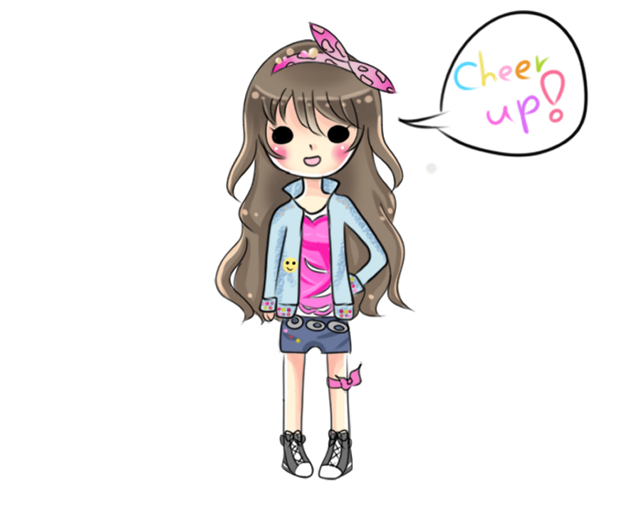 Cheer drawing chibi. Up by channiiera on