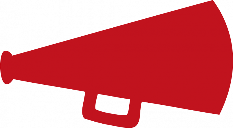 Cheer megaphone clipart png. Collection of red