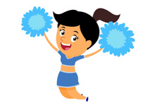 Cheerleader clipart. Search results for clip