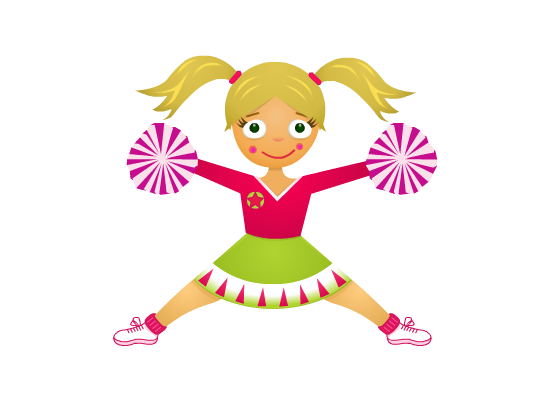 Cheerleader clipart energetic. Cheerleading birthday party invite