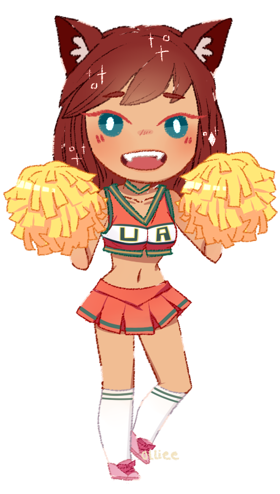 Cheerleader clipart energetic. Cheerleading by olliee phantom