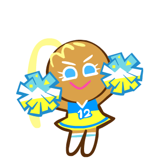 Cheerleader clipart energetic. Cookie ovenbreak run wiki