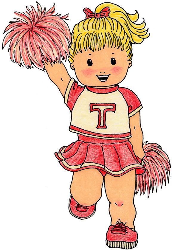 Cheerleader clipart energetic. Sports theme teaching parties