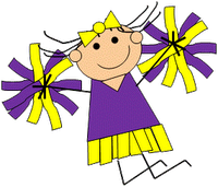 Cheers clipart purple gold. Mini cheer camp at