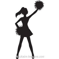 Silhouette stunt at getdrawings. Cheerleader clipart banner transparent library