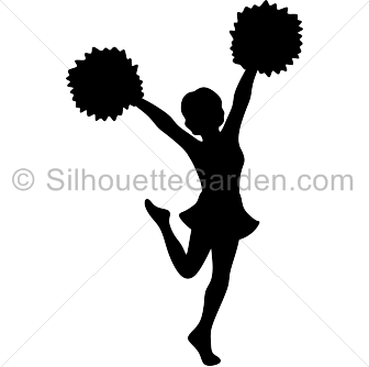 svg silhouette cheerleader