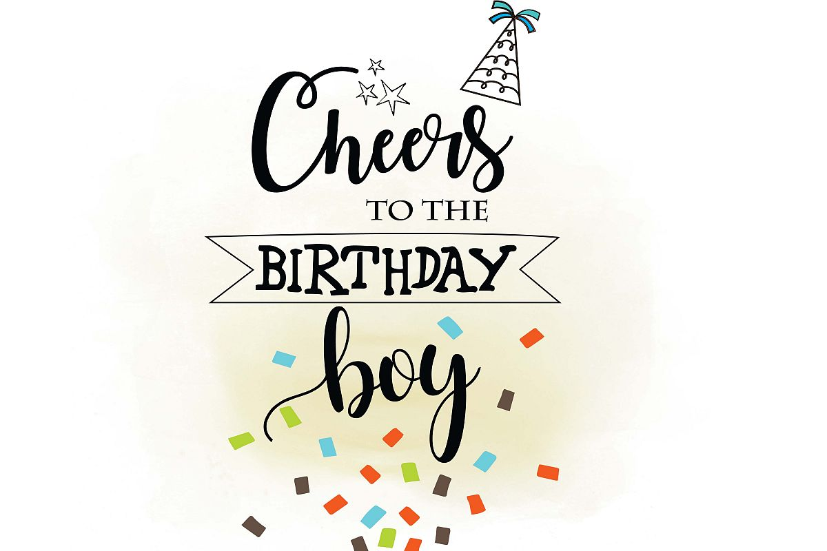 Cheers clipart. To birthday boy svg