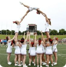 Cheers Cheerleading Pyramid Transparent Png Clipart Free Download