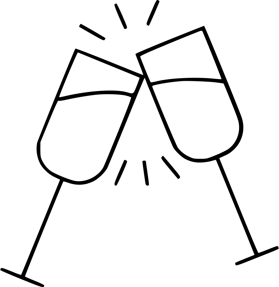 Cheers drawing. Svg png icon free