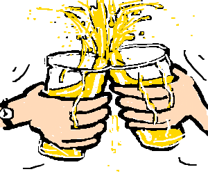 Cheers drawing. By alexander drawception