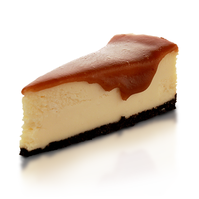 Cheesecake png. Salted caramel wow factor