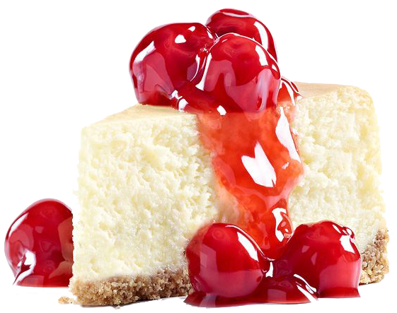 cheesecake transparent cherry