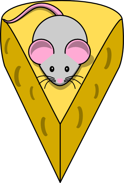 Cheese clipart. Grey mouse with clip