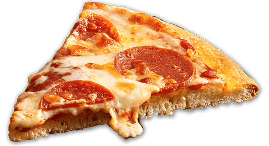 Cheese pizza slice png. Transparent stickpng