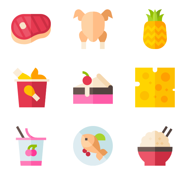 Vector factory food. Cheese icons free