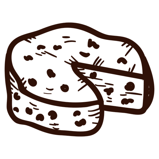 Cheese vector png. Hand drawn transparent svg
