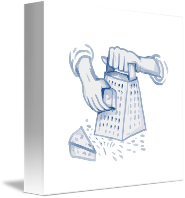 Cheese watercolor png. Handheld grater grating by