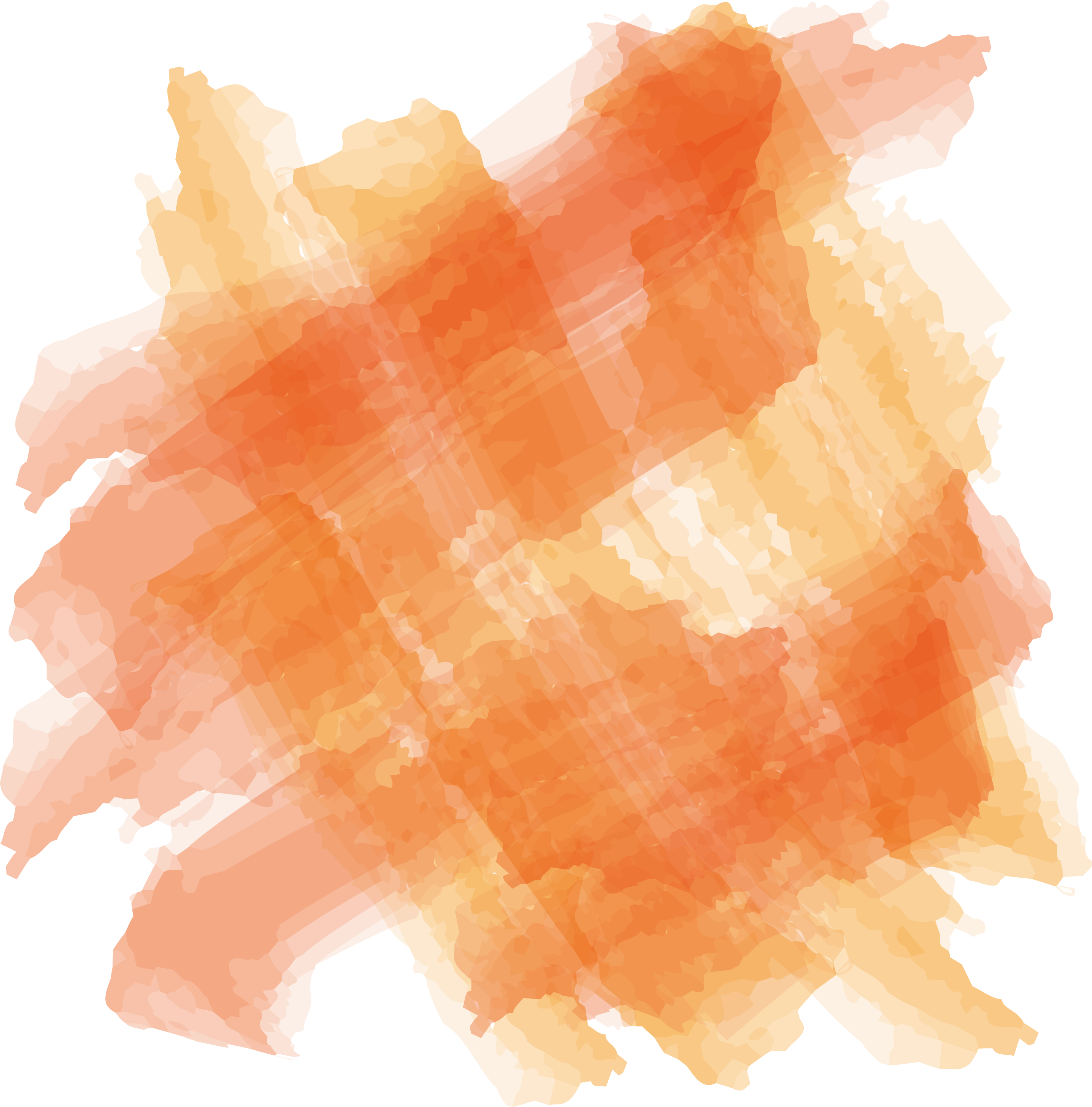 Cheese watercolor png. Orange painting paintbrush cross