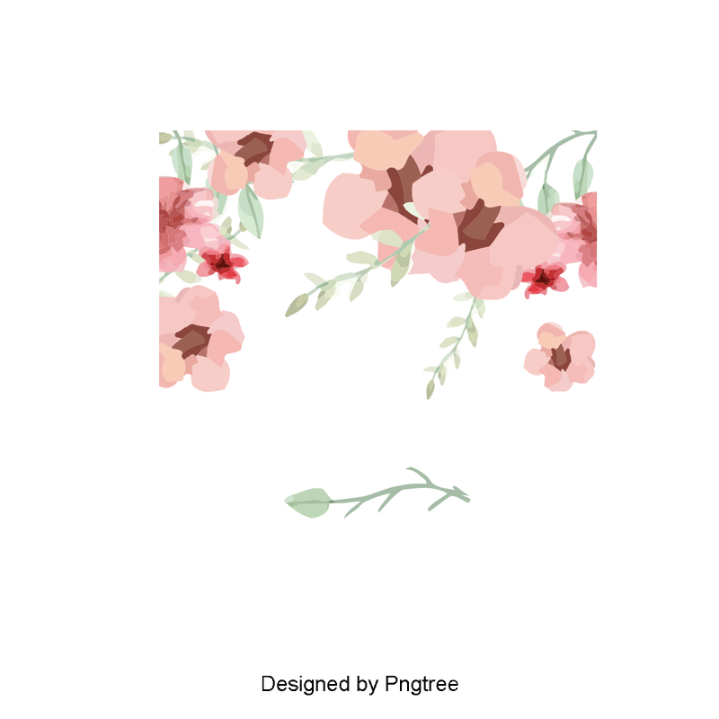 Cheese watercolor png. Vector flowers pink and
