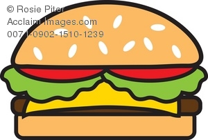 Cheeseburger clipart. Illustration of a
