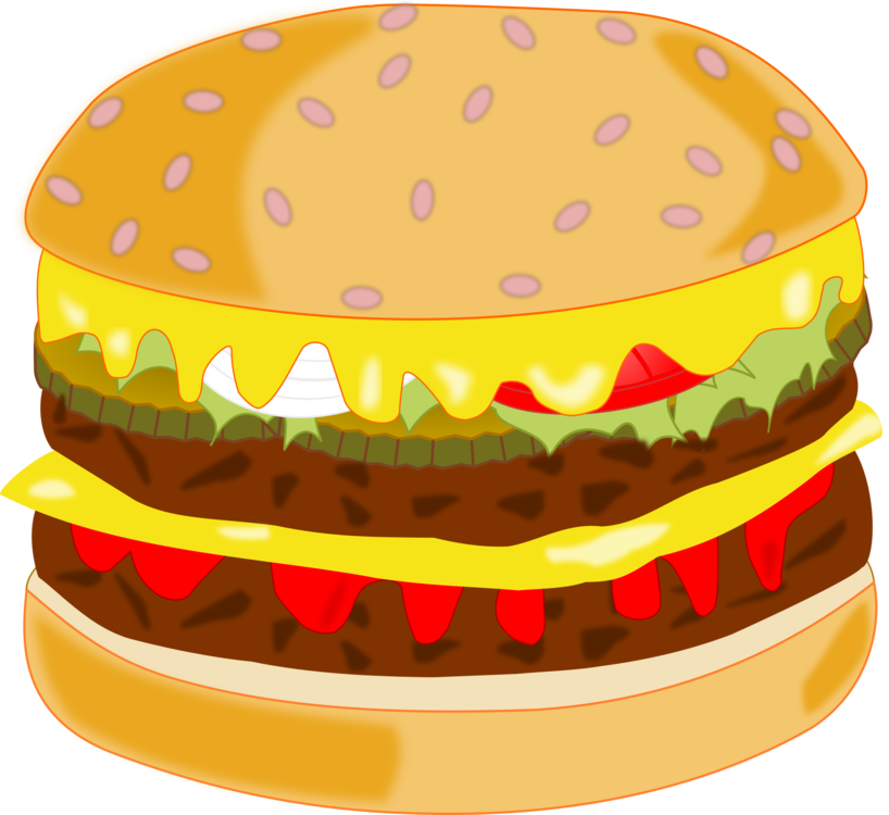 Hamburger fast food french. Cheeseburger clipart clipart black and white stock