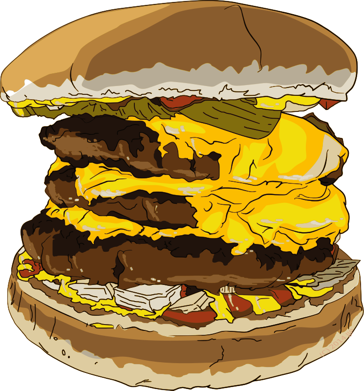 Fast food triple medium. Cheeseburger clipart picture freeuse stock
