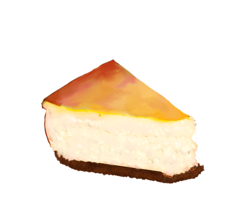 Cheesecake slice png. Plain by emptypulchritude on