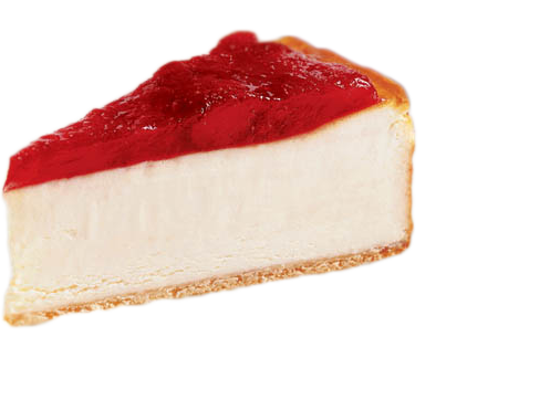 Cheesecake transparent strawberry. Billys pizza and wings
