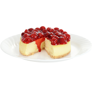 Cheesecake transparent cherry. April national day