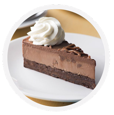 Cheesecake transparent chocolate. Triple made with ghirardelli