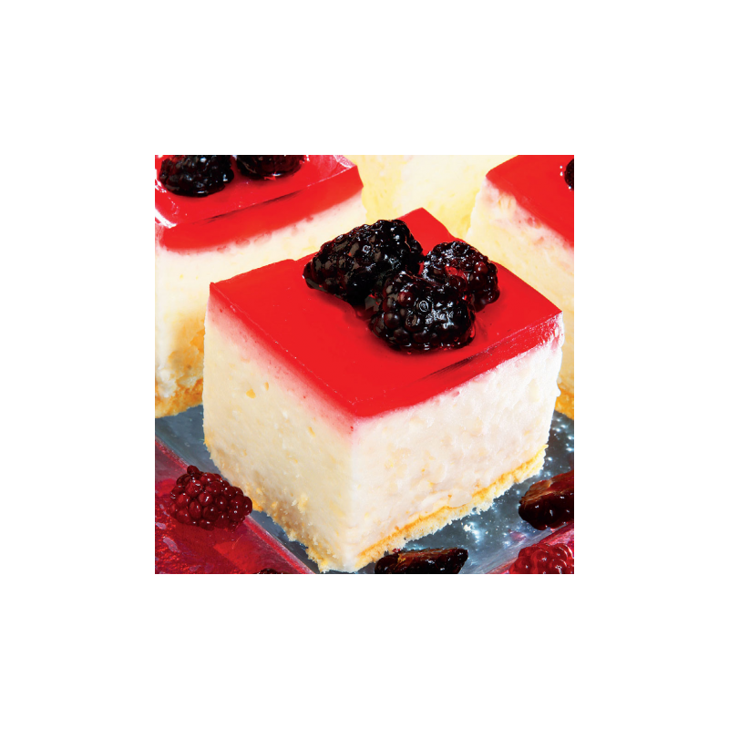 Cheesecake transparent european. Rice pudding cake with