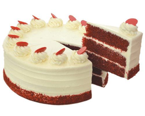 Cheesecake transparent red velvet cake. La rocca creative cakes